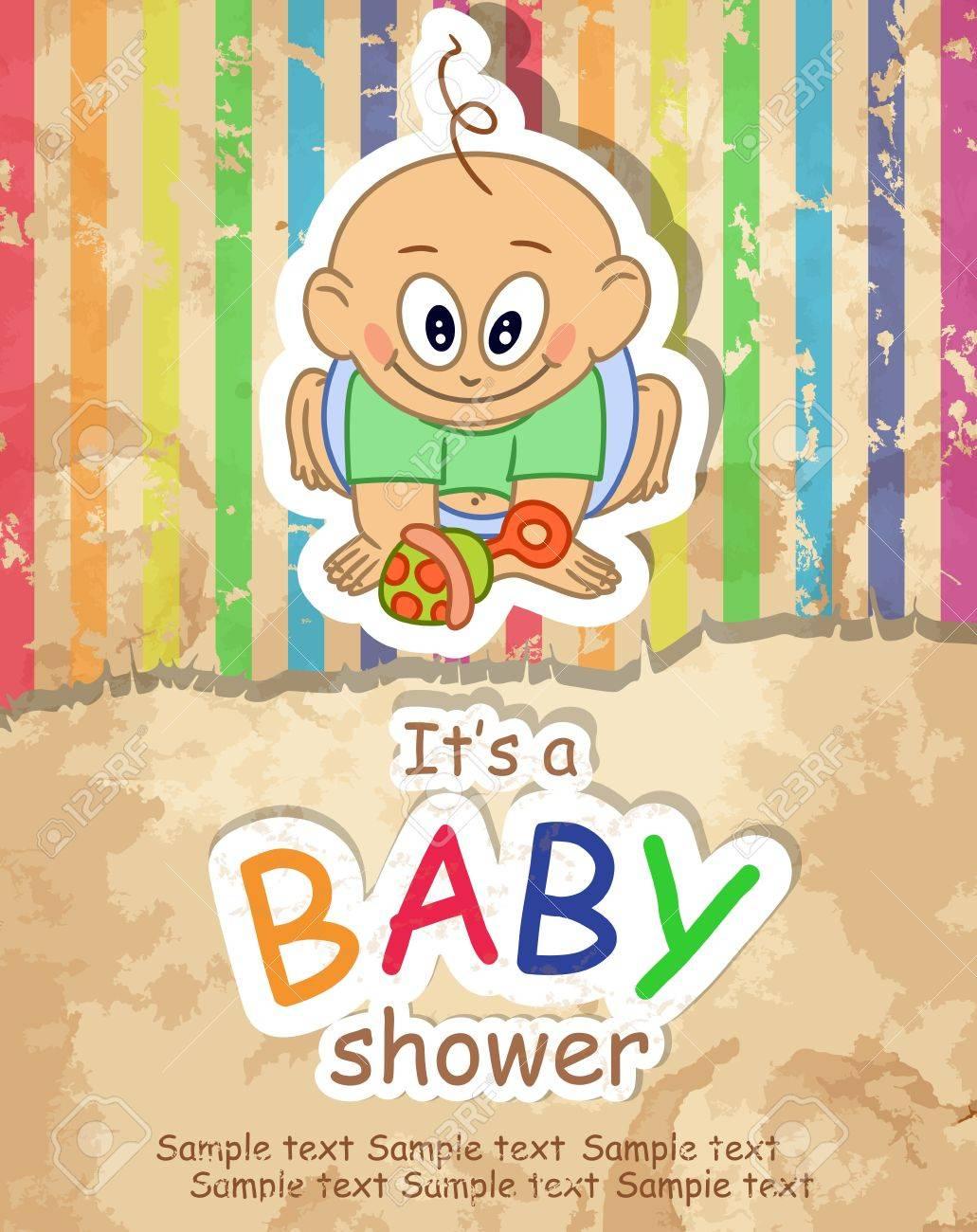 Baby Shower. Vector illustration. Eps 10. Stock Vector - 16922853