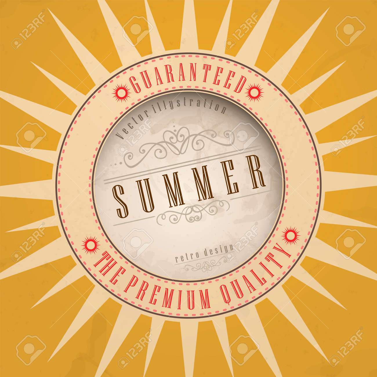 Summer background. Vector illustration. Eps 10. Stock Vector - 16952035