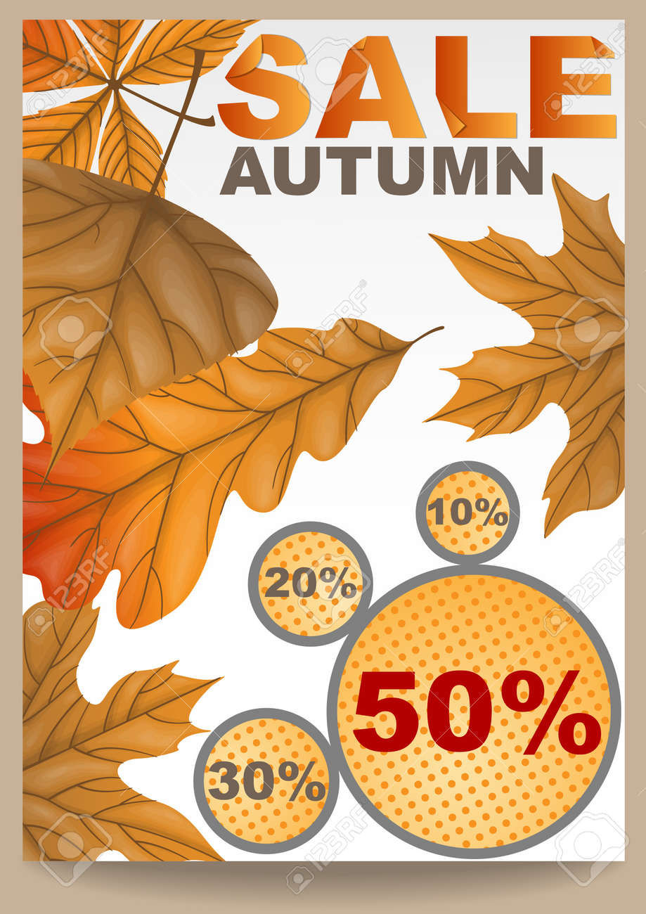 Autumn sale.  illustration. Stock Vector - 16957372