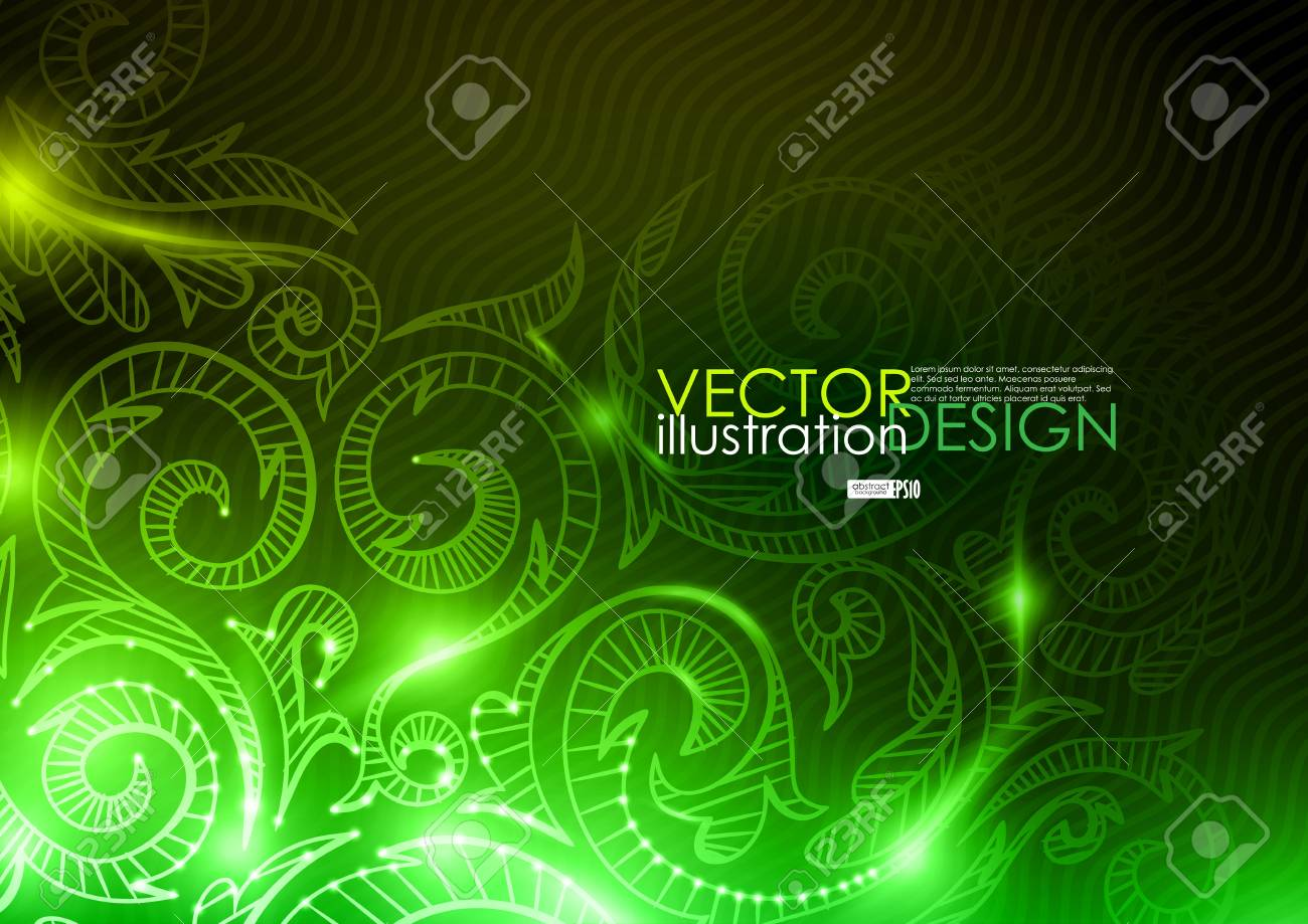 Neon pattern background. Vector illustration. Eps 10. Stock Vector - 16977075