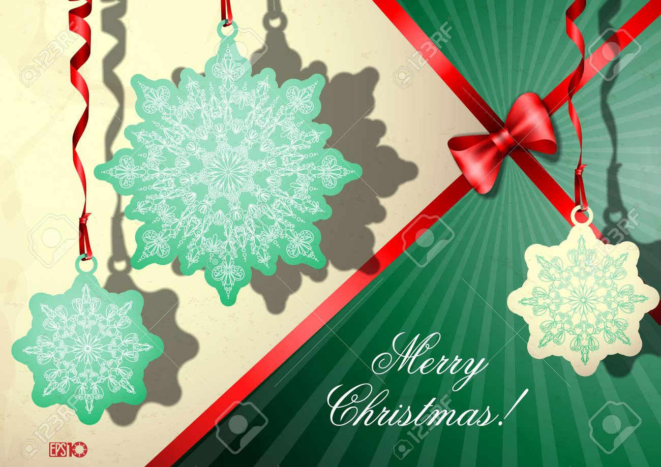 Elegant Christmas background. Stock Vector - 17205974