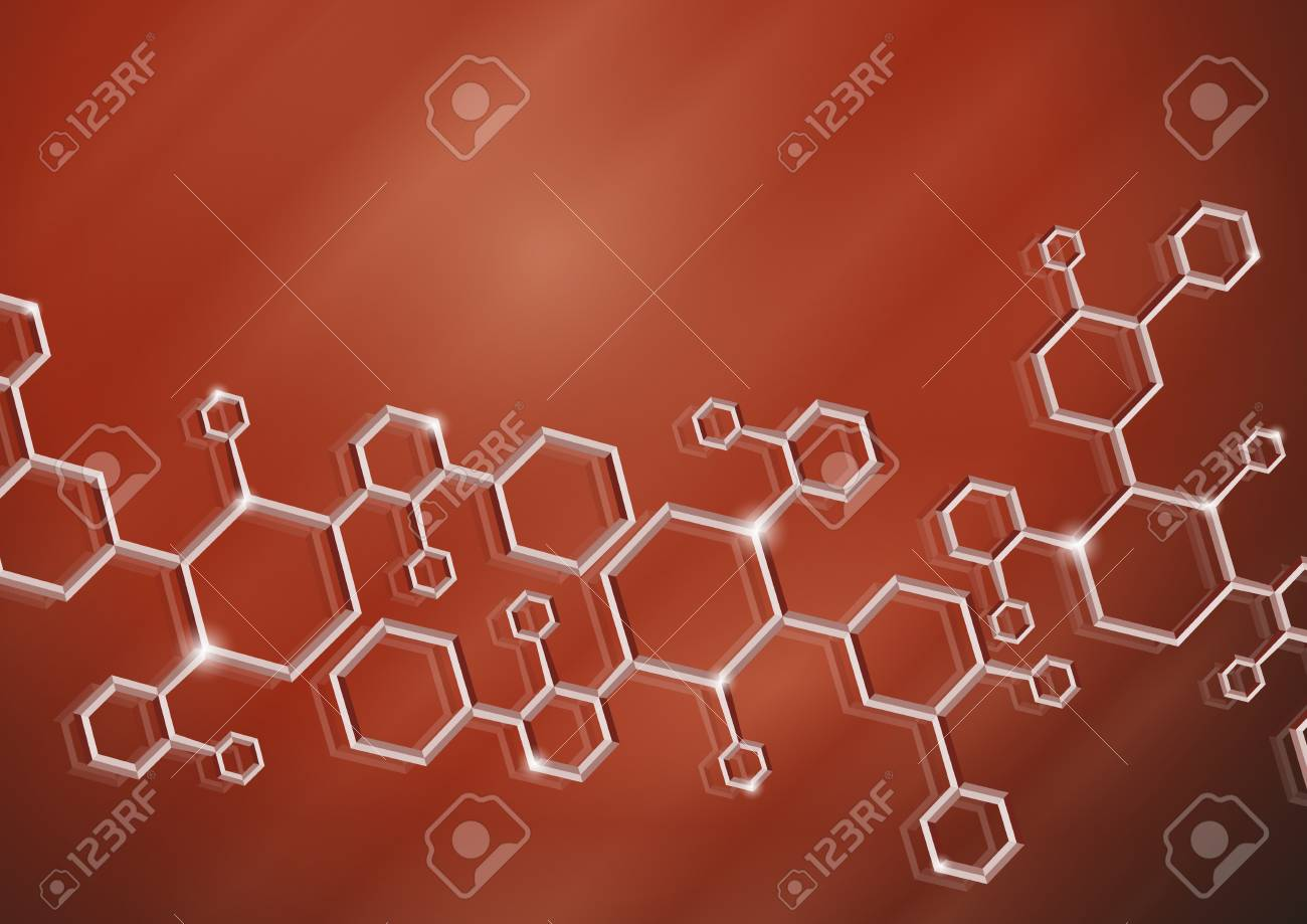 Molecule background Stock Photo - 20992869