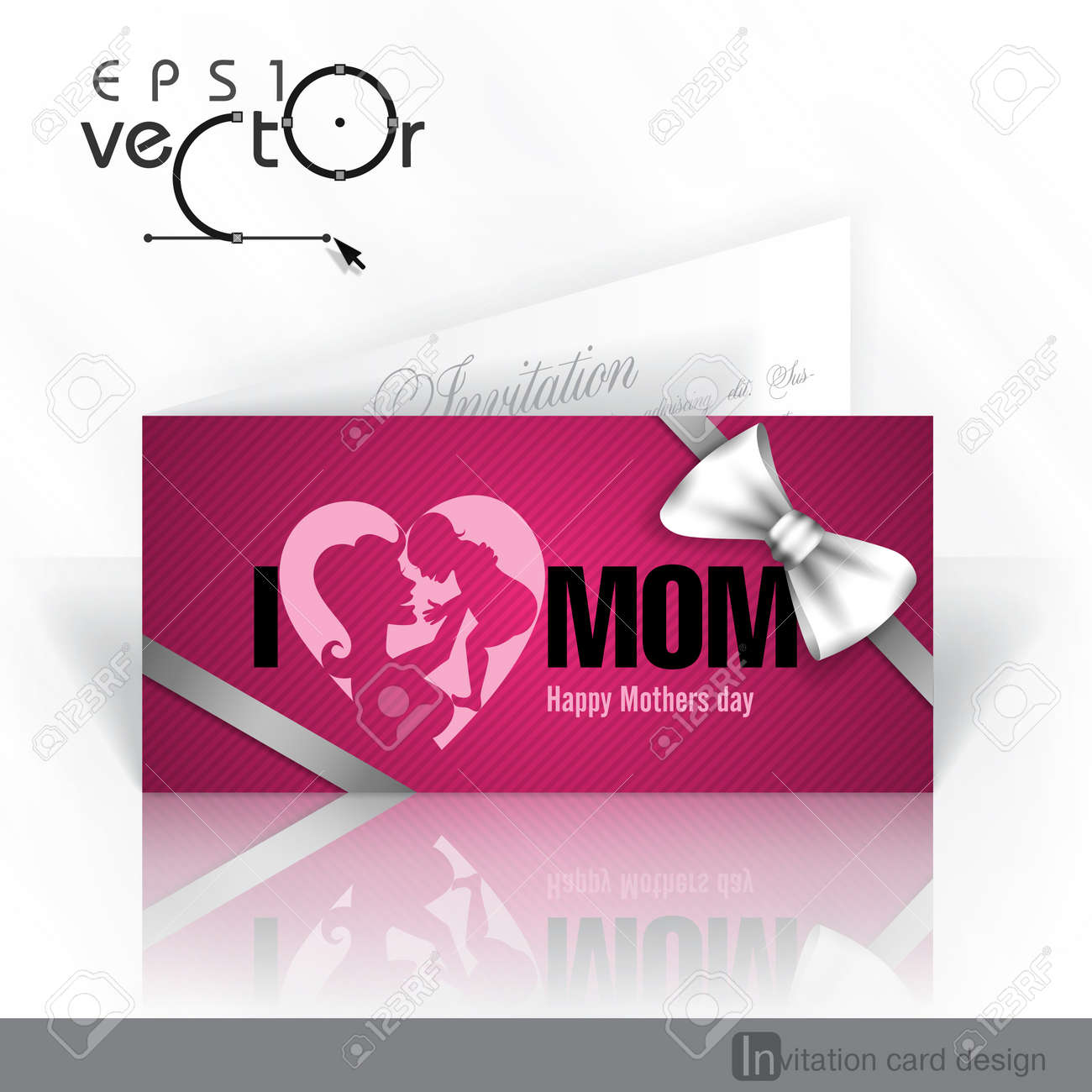 Invitation Card Design Template Happy Mothers Day Royalty Free – Mothers Day Invitation Cards