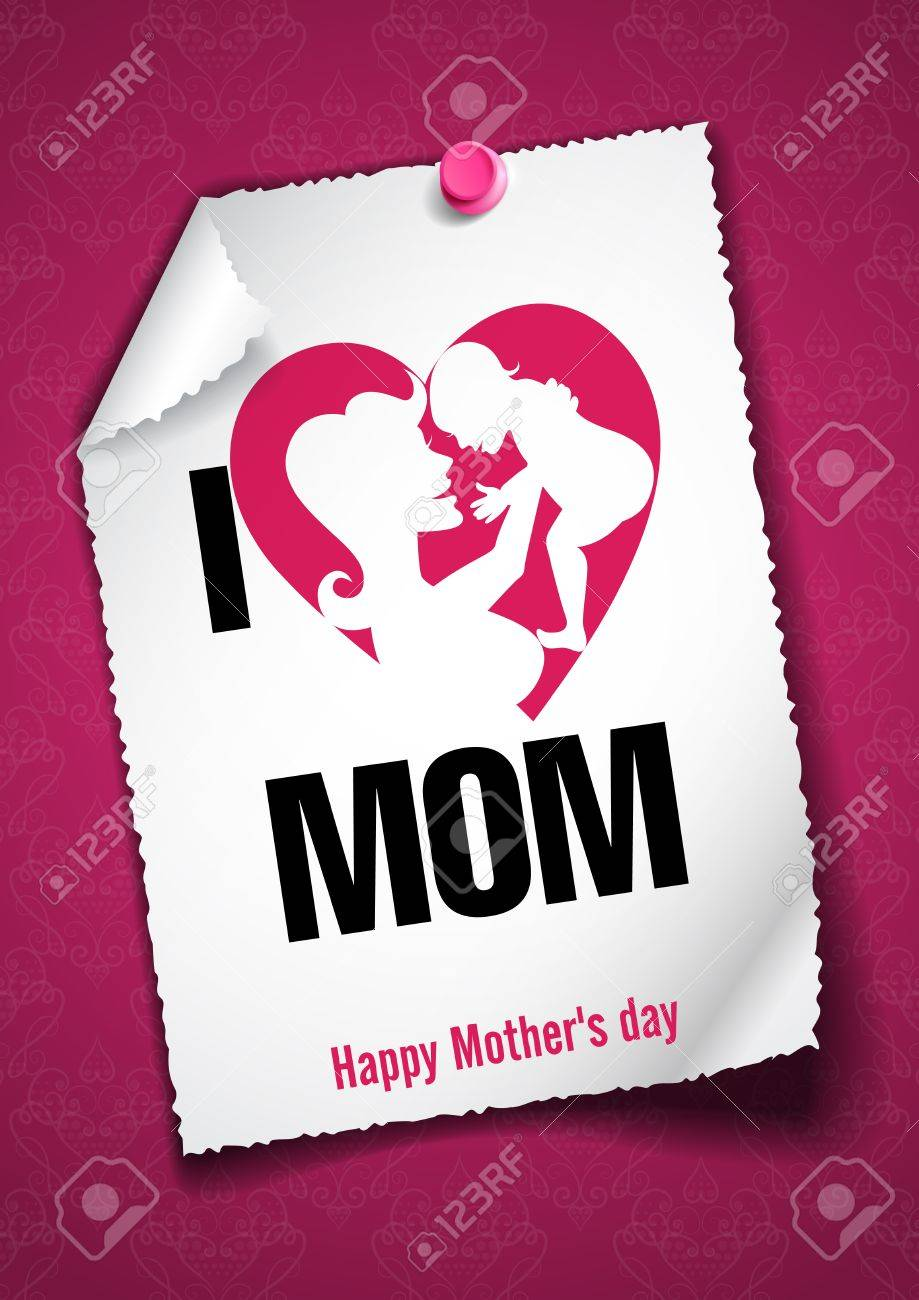 greeting card design template happy mothers day royalty free