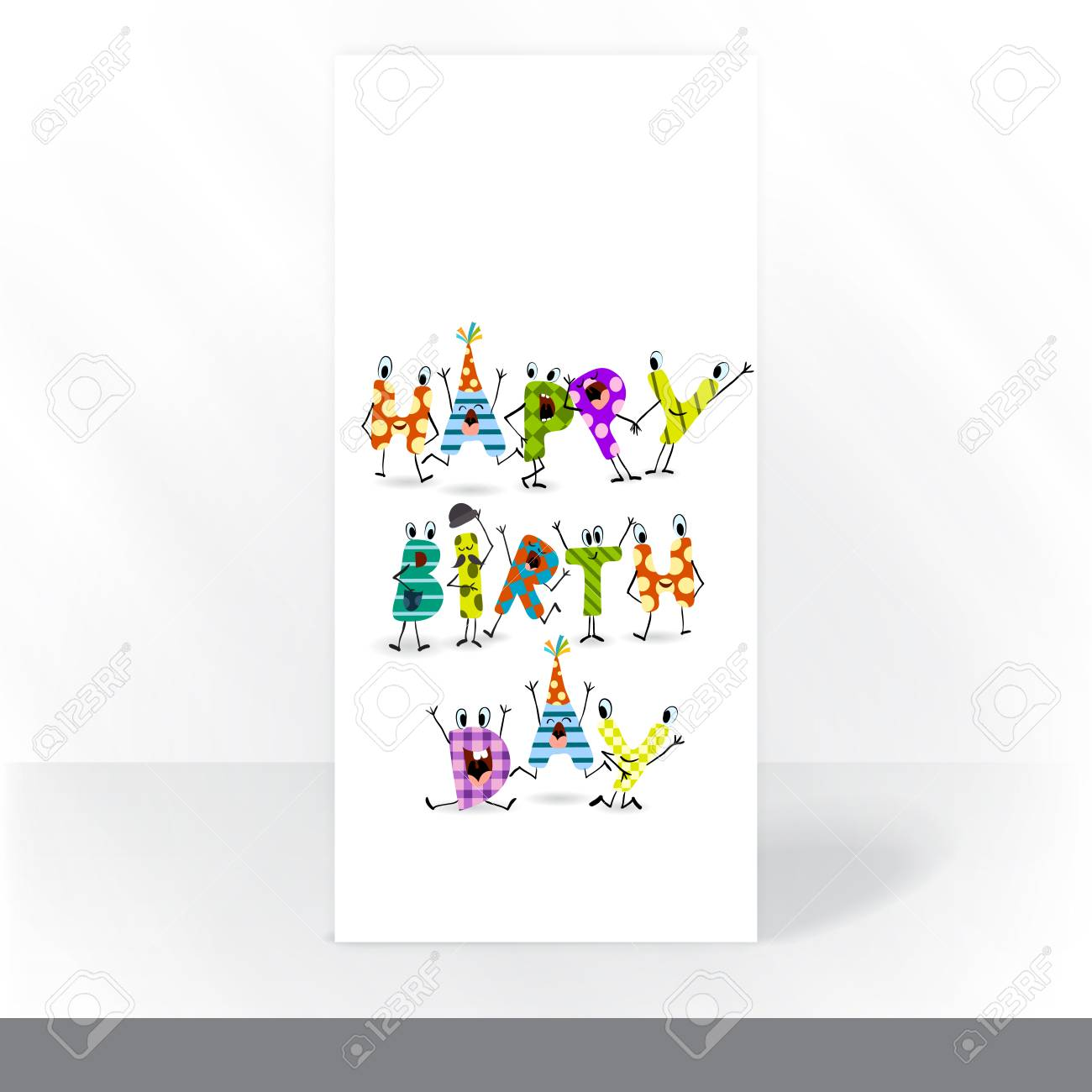 Colorful Birthday Background Party Invitation Card Design Template