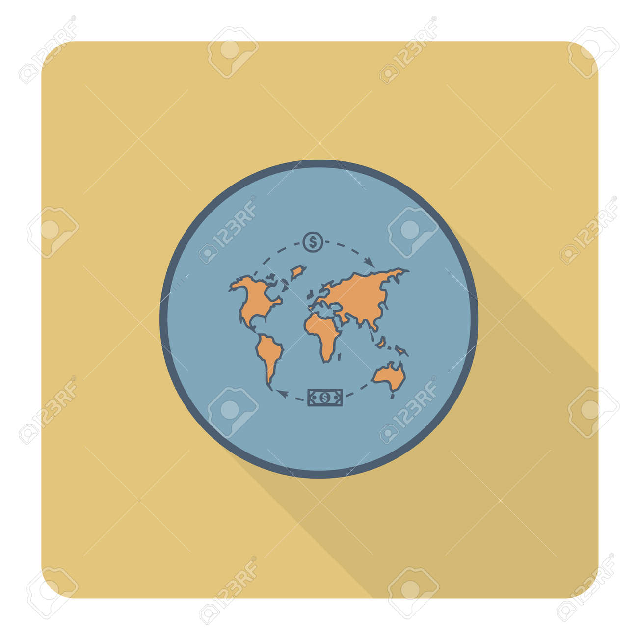 World map and money business and finance single flat icon simple world map and money business and finance single flat icon simple and minimalistic gumiabroncs Image collections
