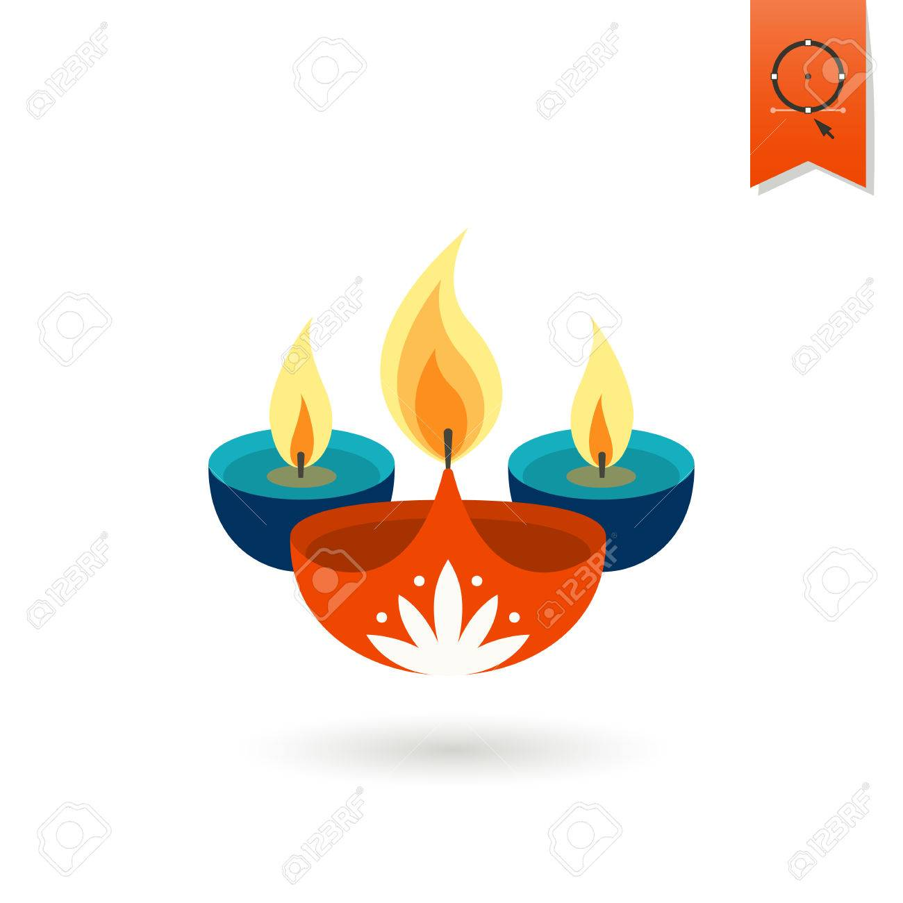 10,445 Indian Lamp Stock Vector Illustration And Royalty Free Indian ... for Fire Lamp Clipart  557yll