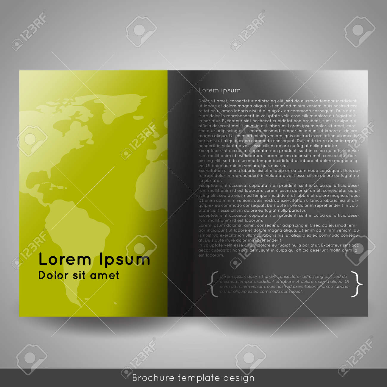corporate bi fold brochure template design annual report