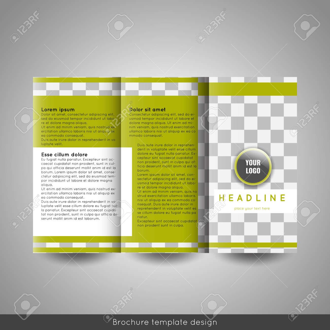 corporate tri fold brochure template design annual report presentation book cover or