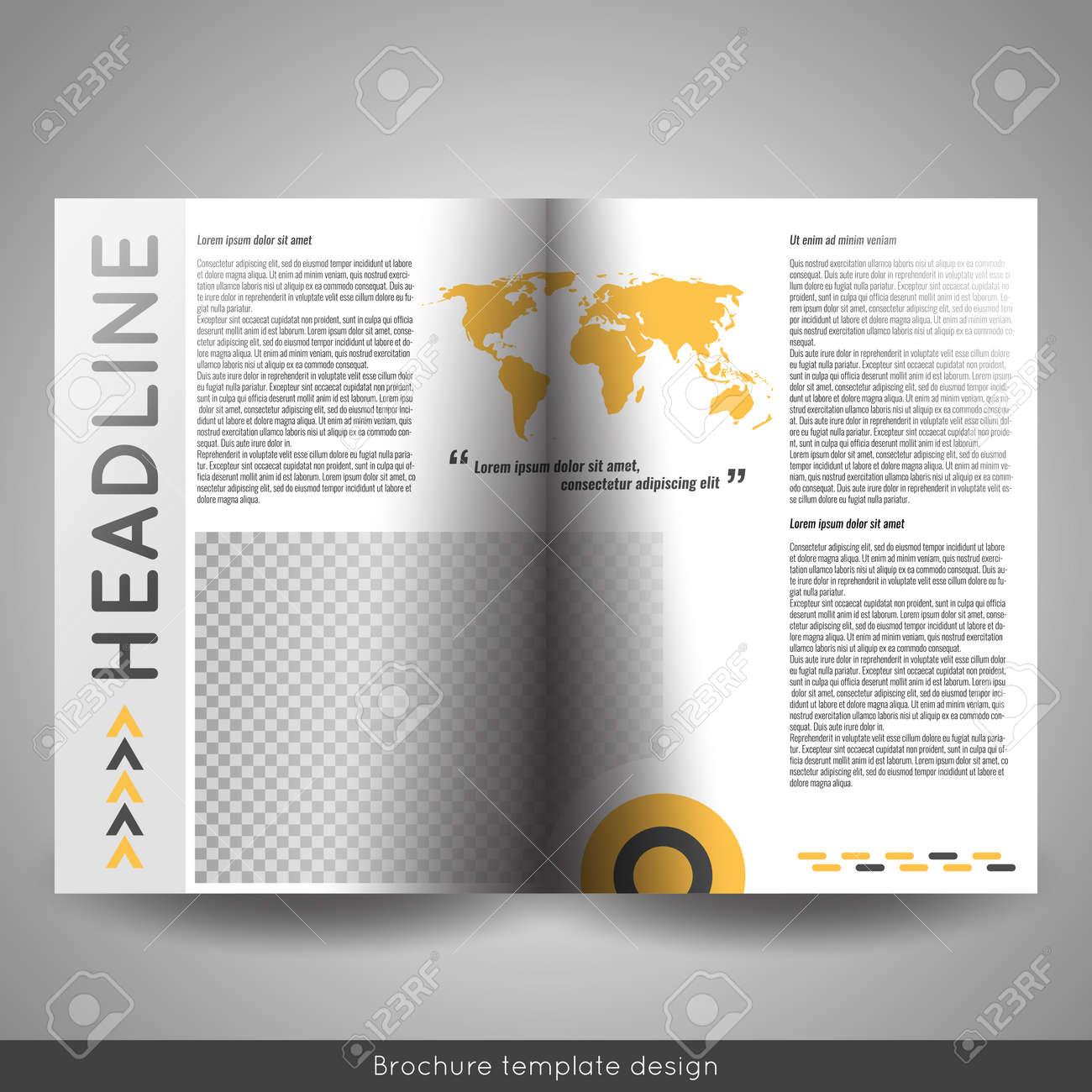 corporate bi fold brochure template design annual report presentation book cover or - Bi Fold Brochure Template