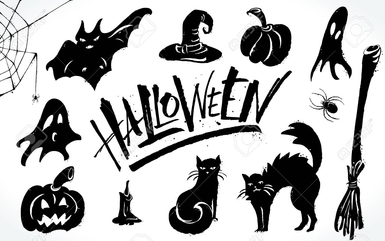 Halloween Clipart Set Royalty Free Cliparts Vectors And Stock Illustration Image 88028673