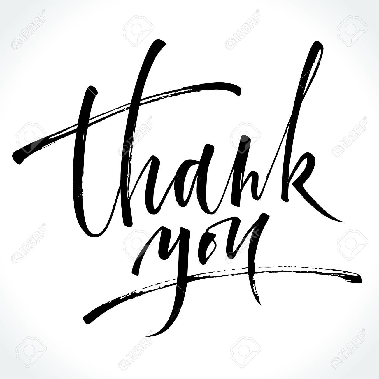 Thank You modern calligraphy - 88357421