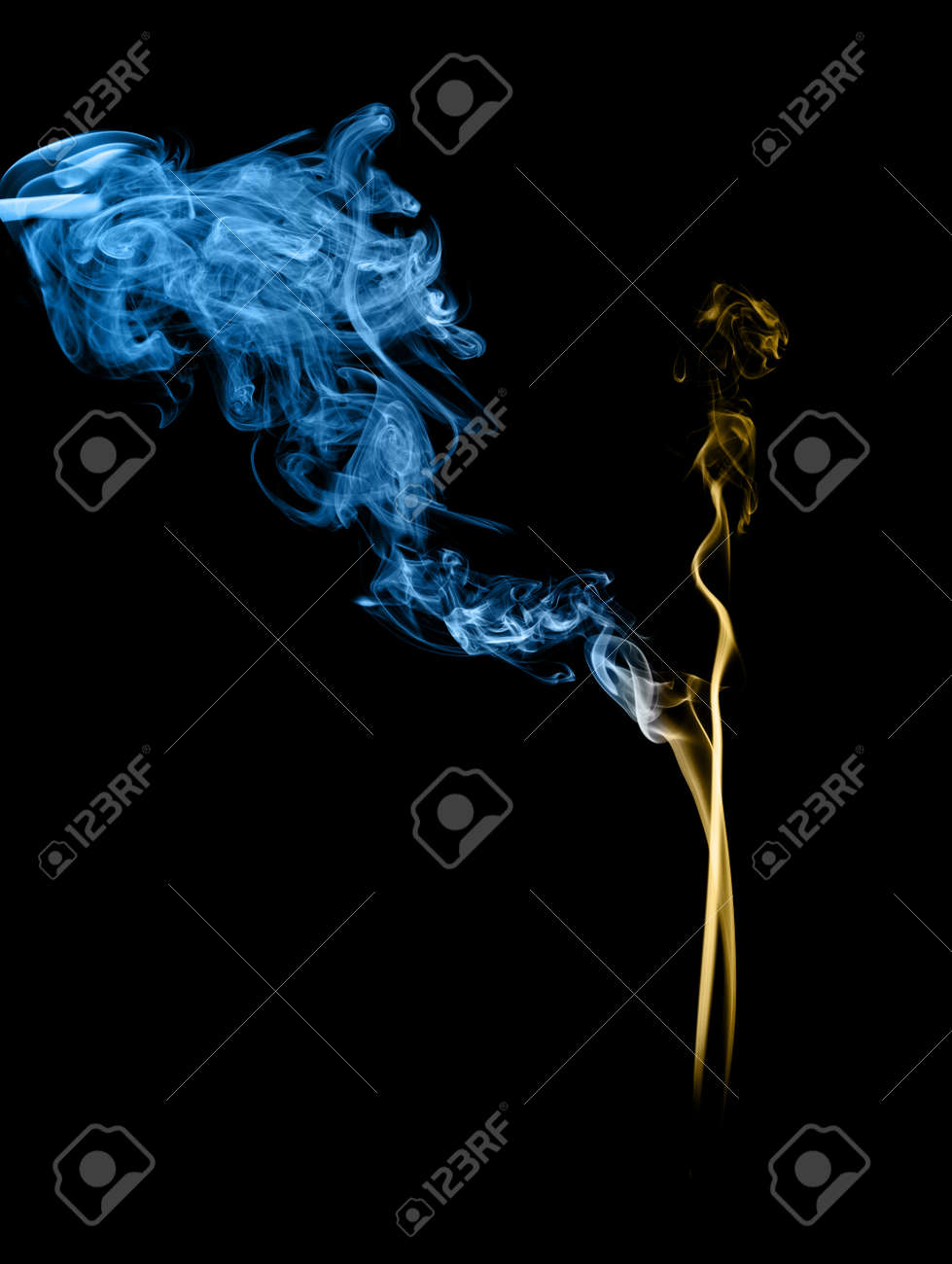 Smoke art with black background in toned color Stock Photo - 17200822