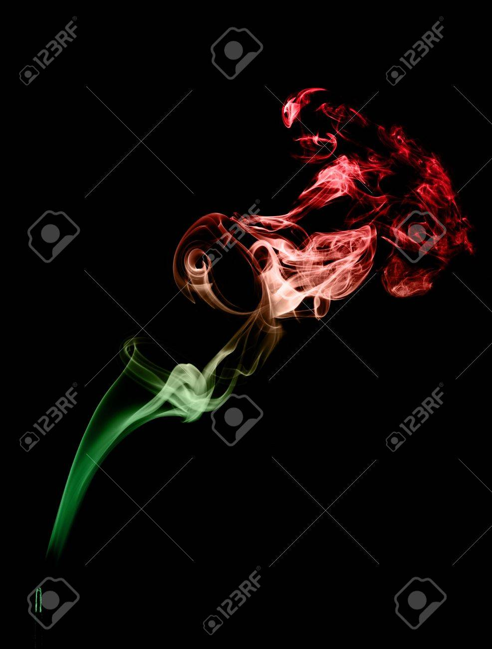 Smoke art with black background in toned color Stock Photo - 17200820