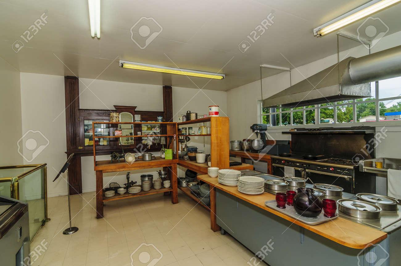 Originele keuken bij harland sanders café en museum in corbin