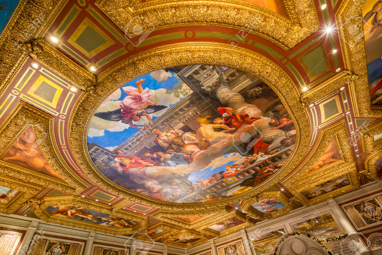 Grand Painting At The Ceiling Of Venetian Hotel Las Vegas Nevada Stock  Photo   36397345