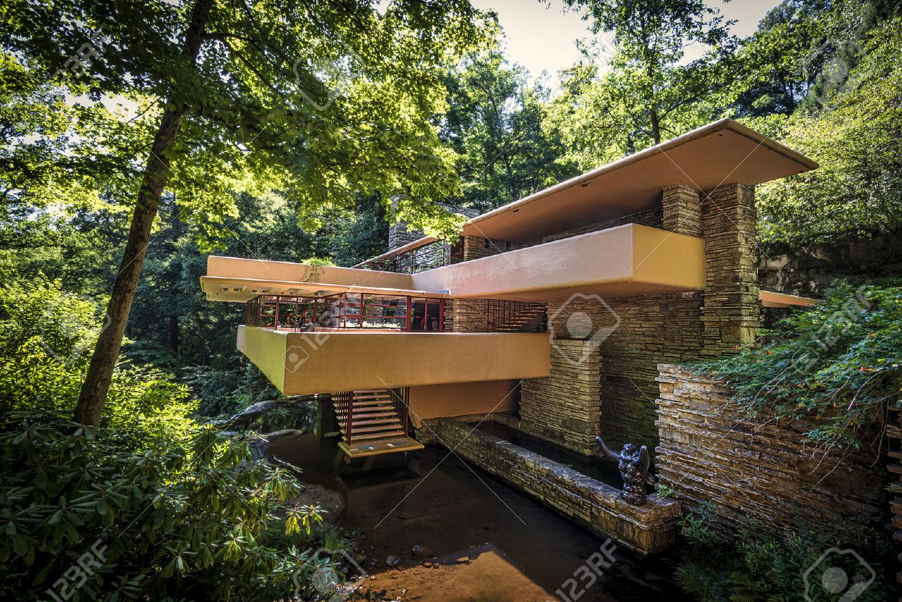 Fallingwater Or Kaufmann Residence Is A House Designed By Architect