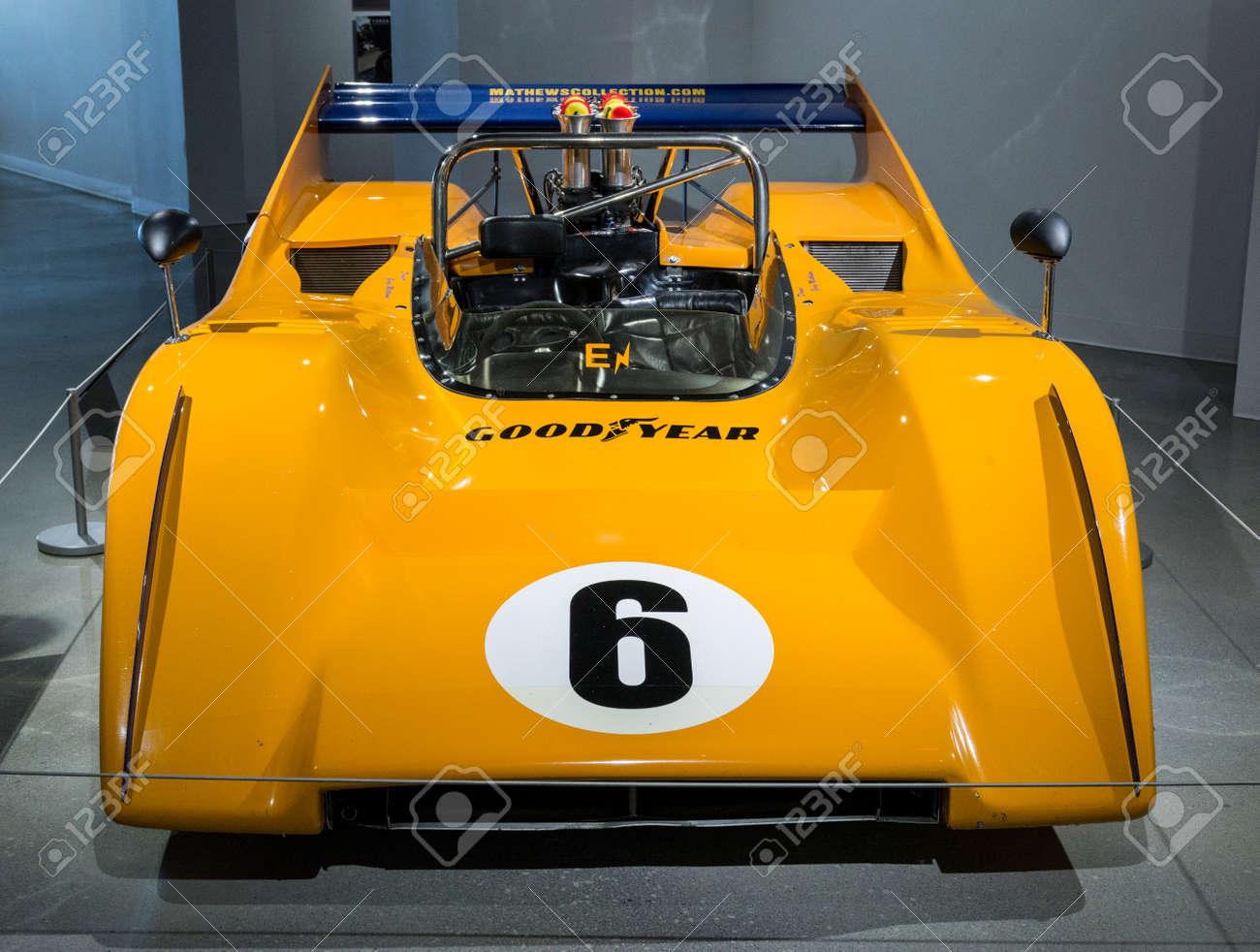 the mclaren m8a was a race car developeddriver bruce mclaren