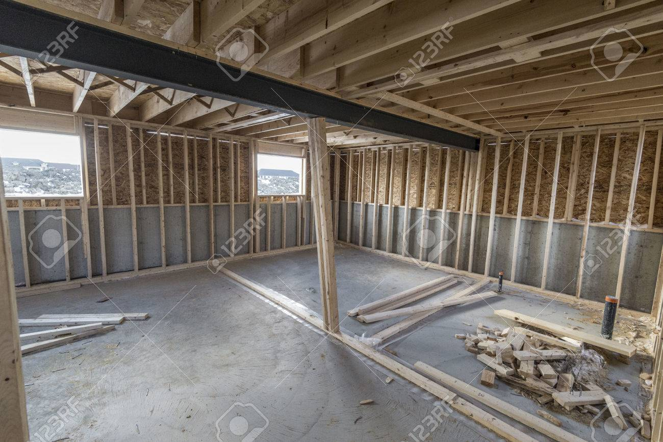 An Un Finished Basement Of House Under Construction Stock Photo Picture And Royalty Free Image Image 75781421