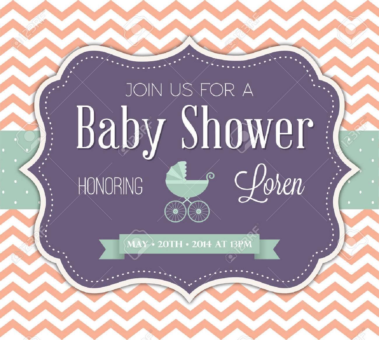 Baby Shower Invitation Stock Vector - 41866466