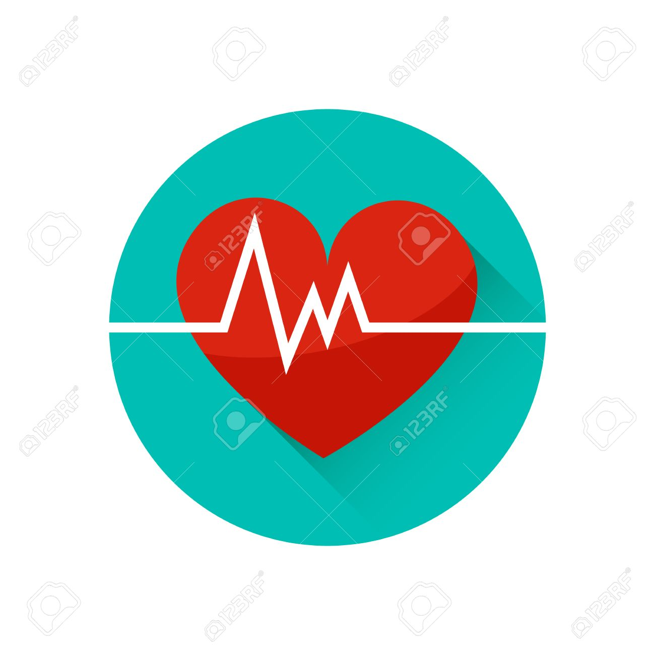 The Heart And Cardiogram Vector Icon Symbol Of Life Trendy