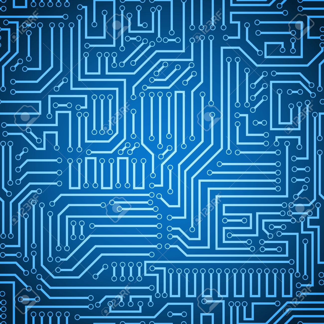 Blue Circuit Board Images Stock Photos Vectors Printed Electronics Vector Background Texture Seamless And Dark Electronic Plate Pattern