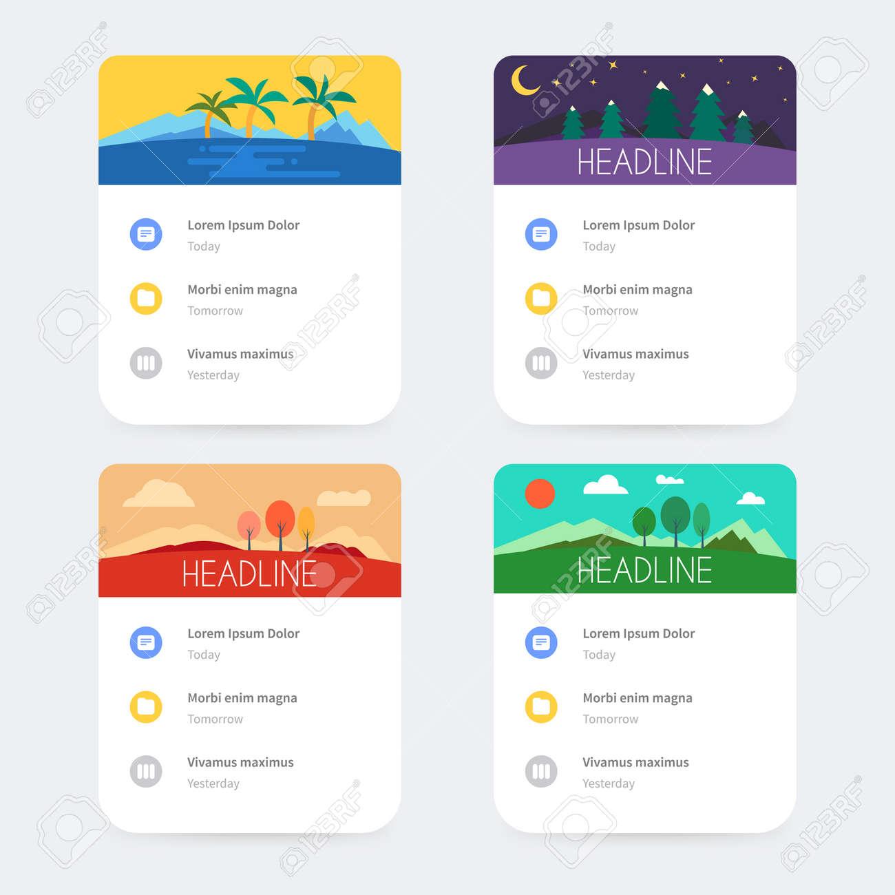 Mobile application interface design. - 49770337