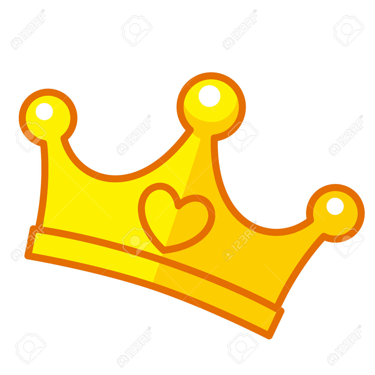 Cartoon Gold Crown Royalty Free Cliparts Vectors And Stock Illustration Image 95895239 Choose from 700+ cartoon crown graphic resources and download in the form of png, eps, ai or psd. cartoon gold crown