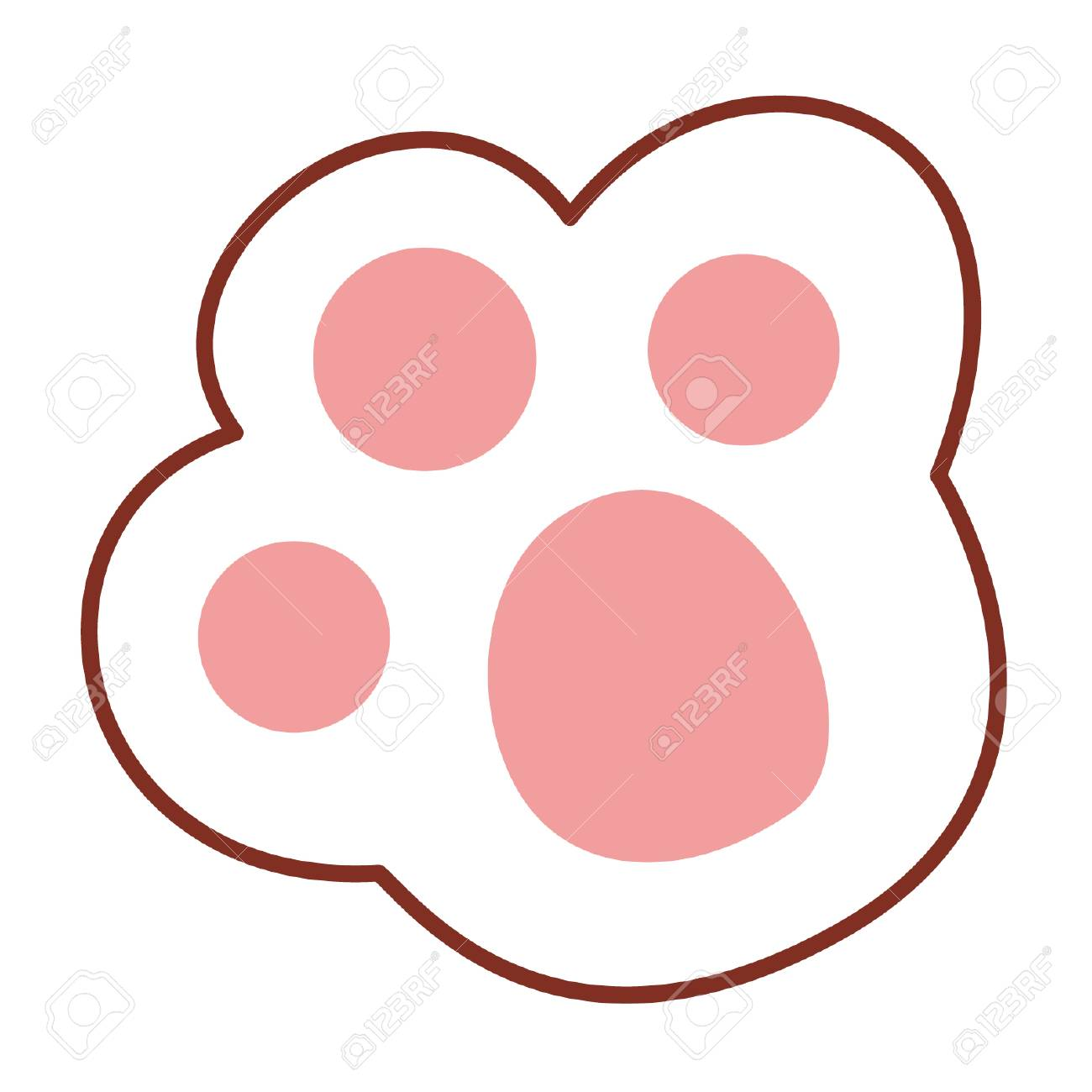 cartoon paw print royalty free cliparts, vectors, and stock illustration.  image 96380634.  123rf