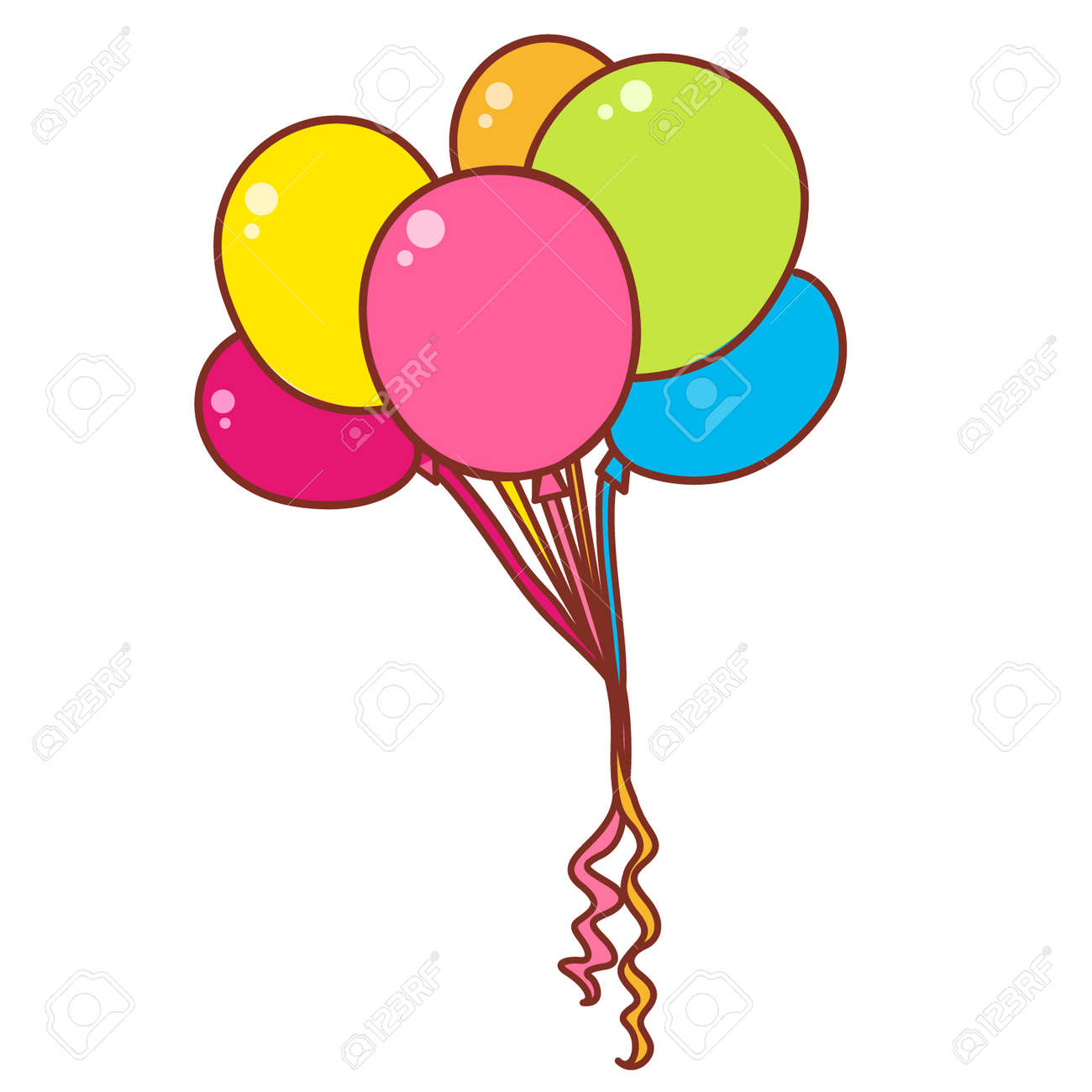 Cartoon Helium Balloons Royalty Free Cliparts Vectors And Stock Illustration Image 96380687 Affordable and search from millions of royalty free images, photos and vectors. cartoon helium balloons