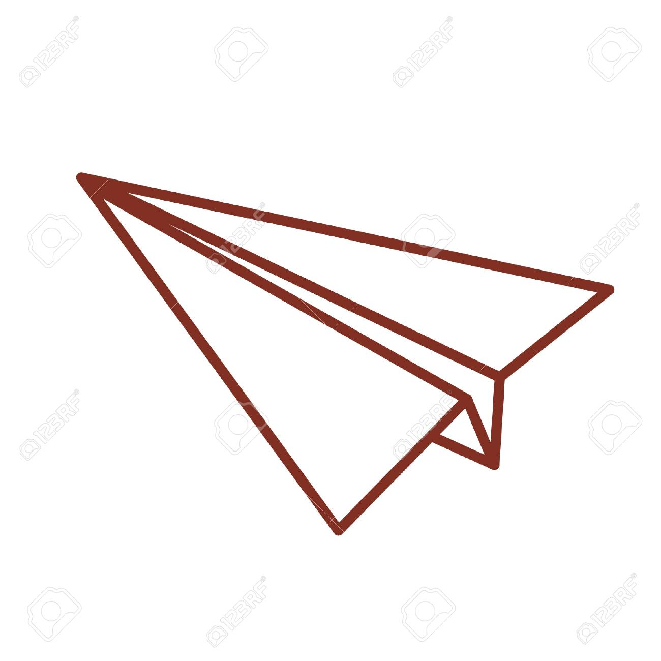 Cartoon Paper Plane Royalty Free Cliparts Vectors And Stock