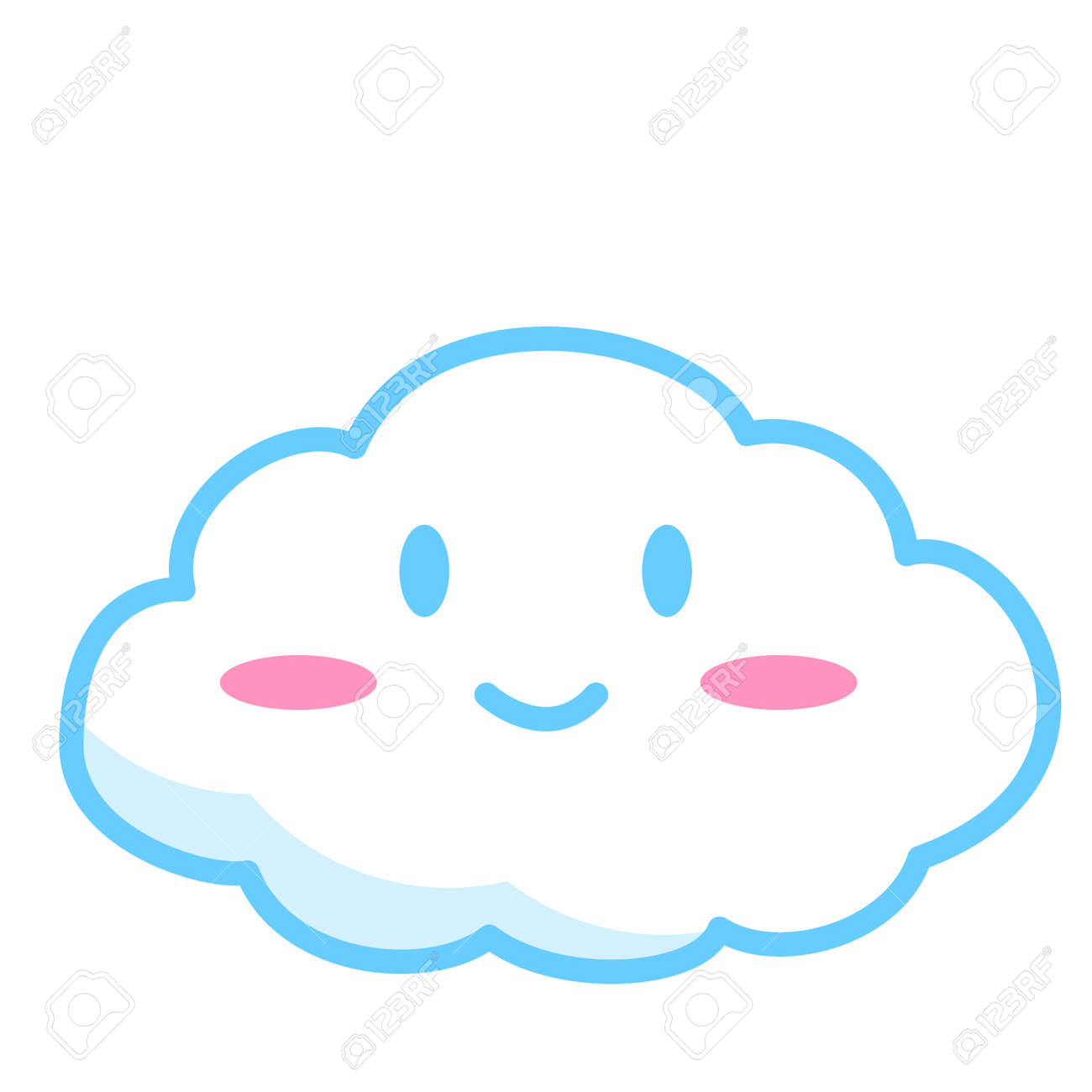 Smiling Cloud Concept Royalty Free Cliparts Vectors And Stock