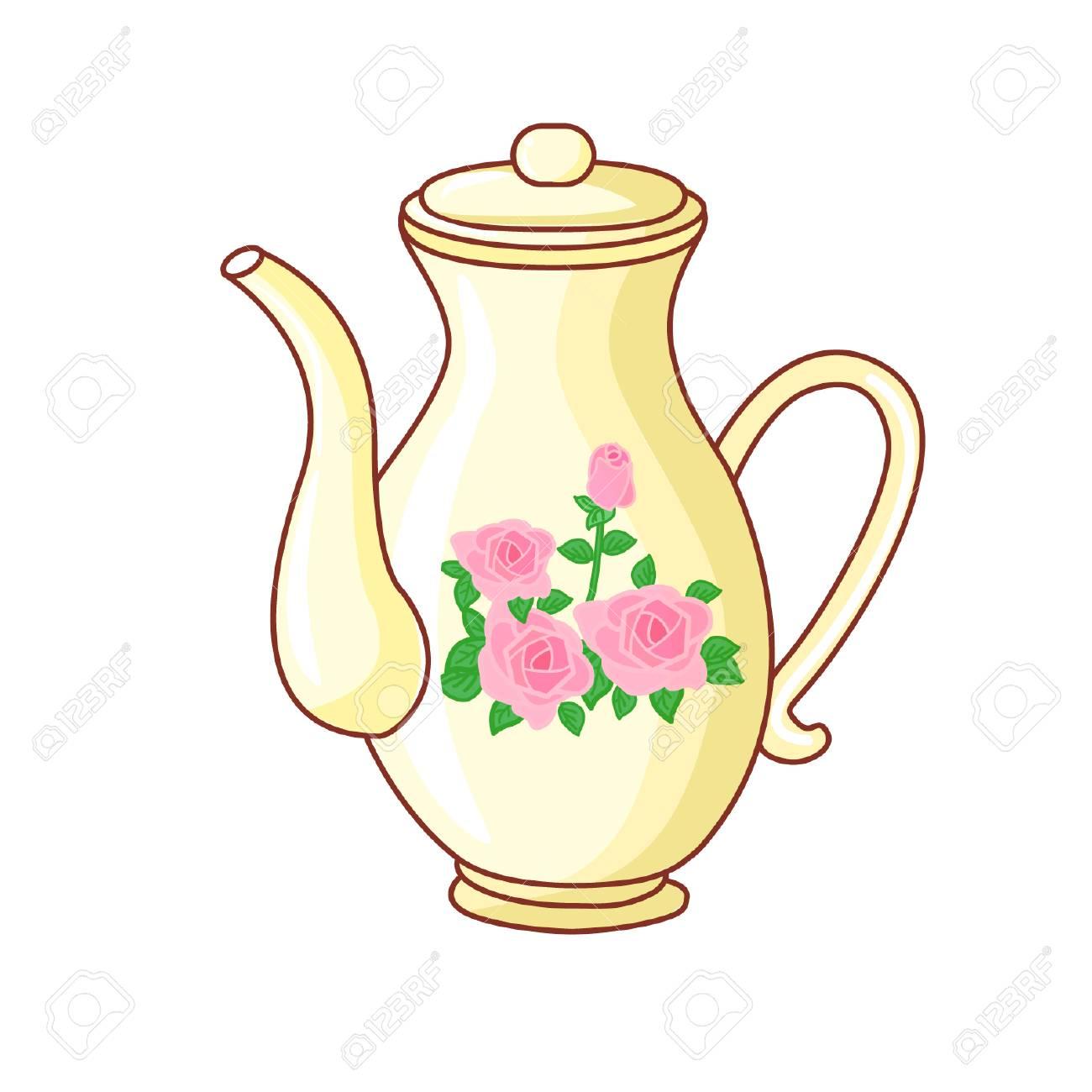 Cartoon English Teapot Royalty Free Cliparts Vectors And Stock