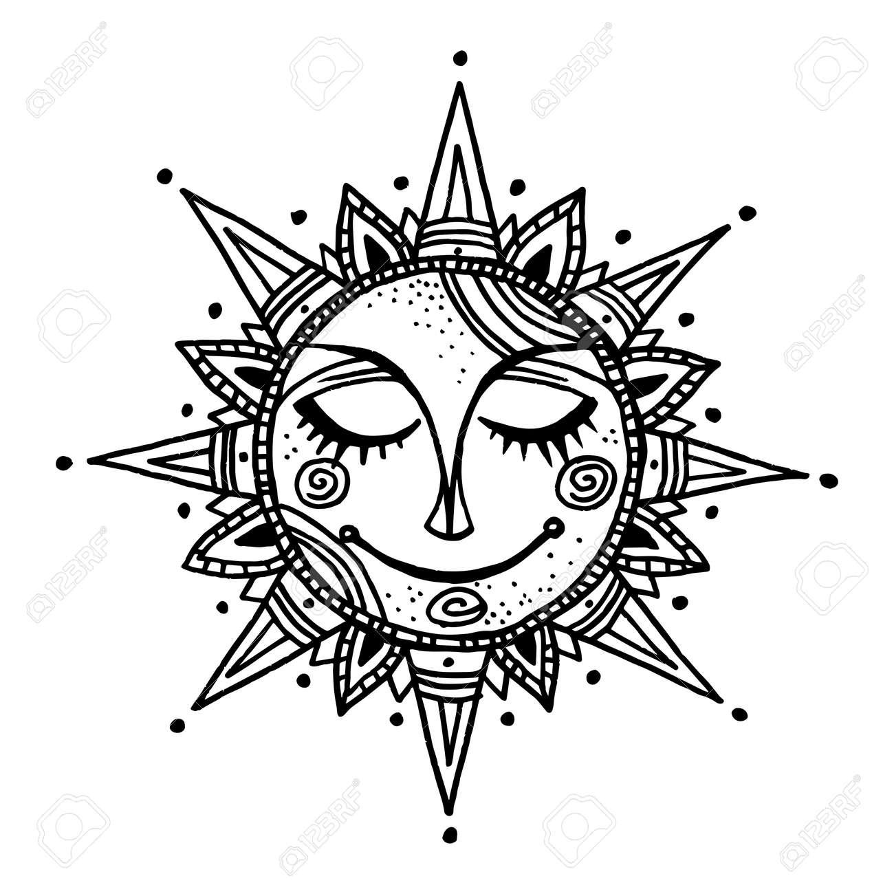 10,127 Sun Tattoo Stock Vector Illustration And Royalty Free Sun ...