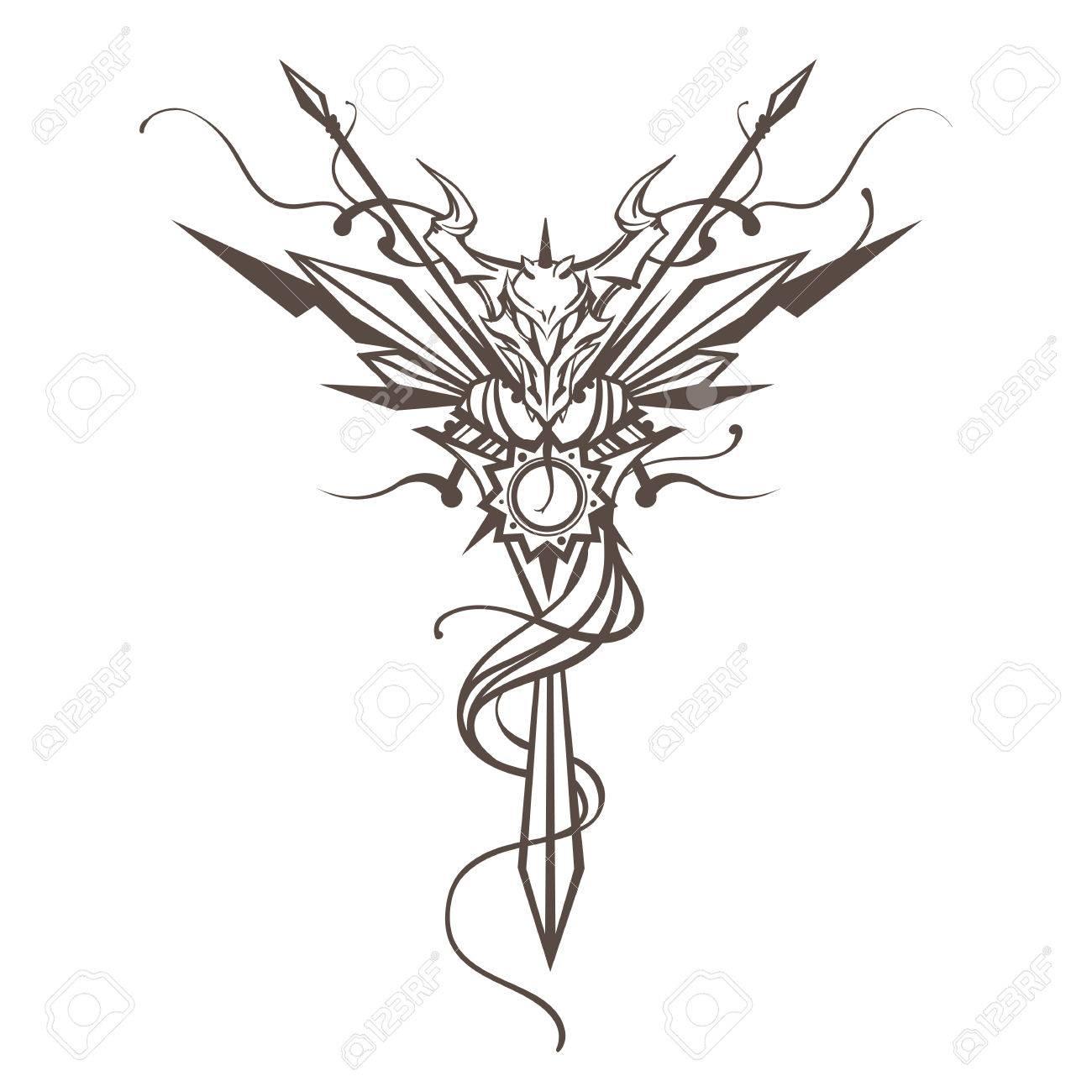 Dragon totem animal vector illustration tattoo t shirt print dragon china zodiac symbol dragon totem animal vector illustration tattoo t shirt print dragon biocorpaavc Gallery
