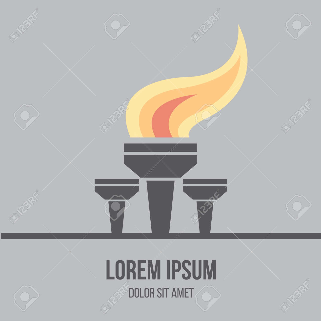 Modern flat design icon of burned torch flame symbol of modern flat design icon of burned torch flame symbol of friendship peace and biocorpaavc Images