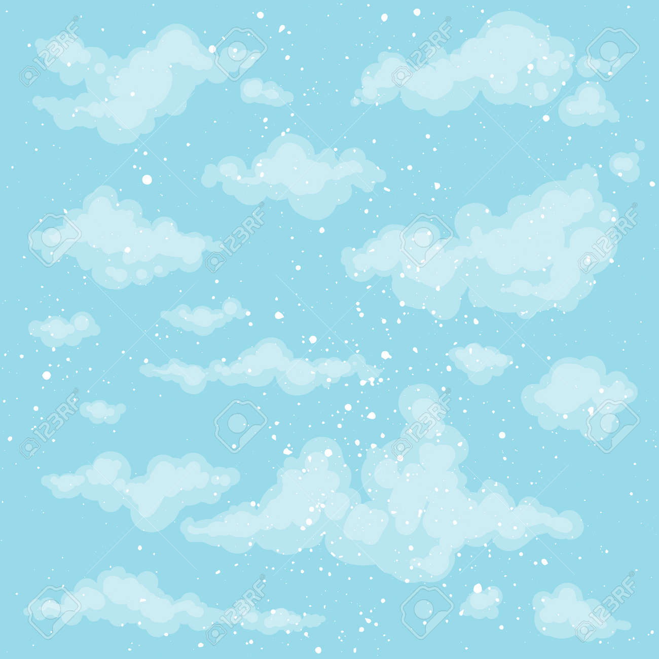 cute heaven background blue sky backdrop vector clouds spring