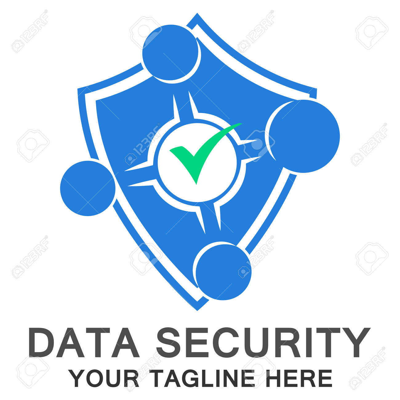 Logo Safe Zone Computer Security Eps 10 Royalty Free Cliparts
