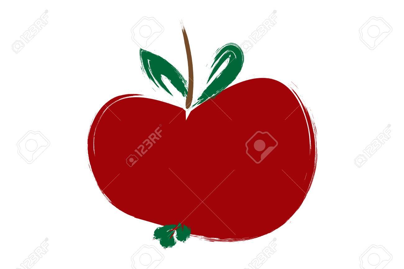 Pintura Manzana Roja, Ilustración En Color Rojo. Fotos, Retratos ...