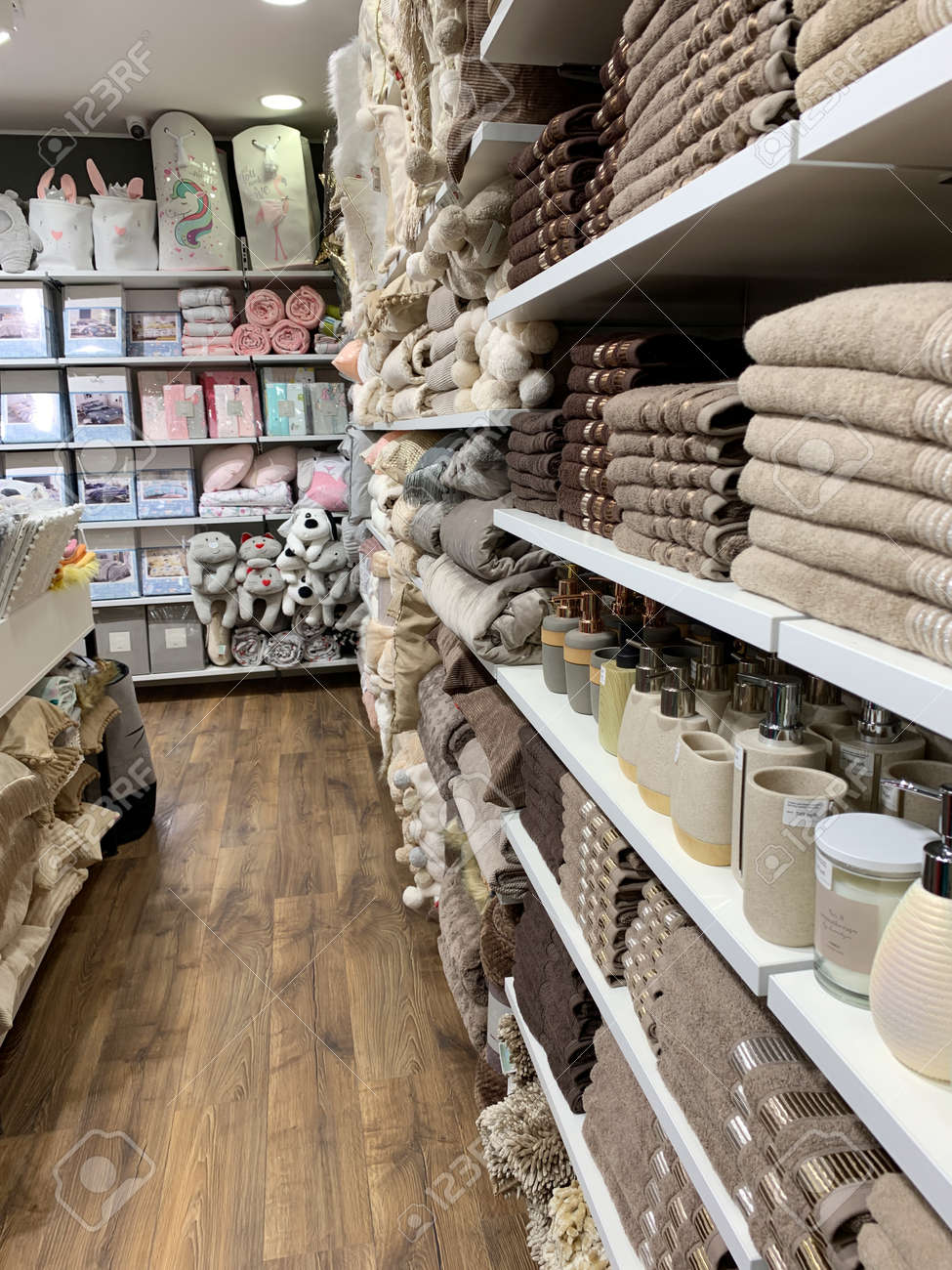 Home Decorations In Decorations Store Modern Textile Shop For Stock Photo Picture And Royalty Free Image Image 140651827