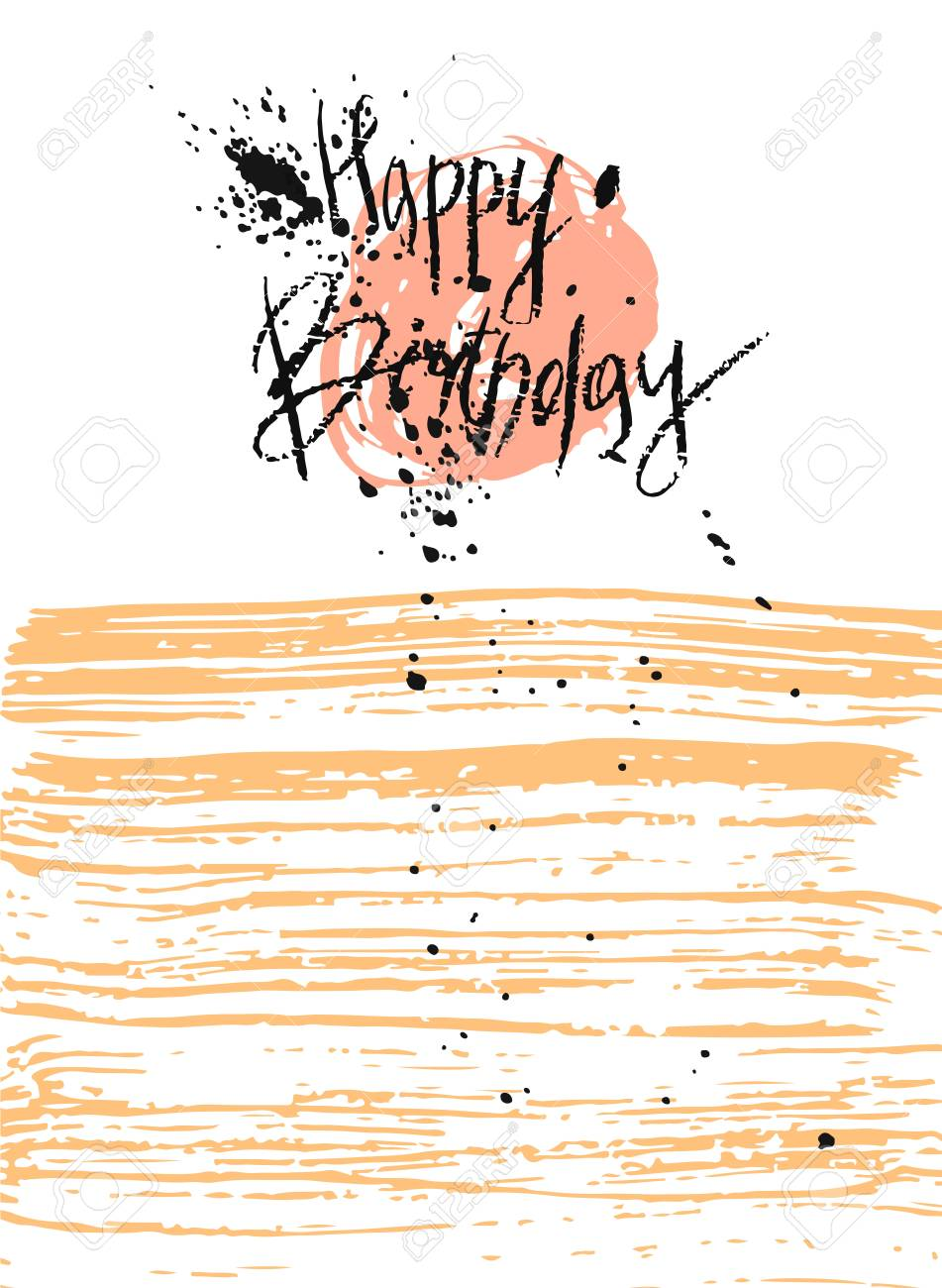 Hand draw vector textured happy birthday cardrthday cardbirthday hand draw vector textured happy birthday cardrthday cardbirthday greetingbirthday quote kristyandbryce Image collections