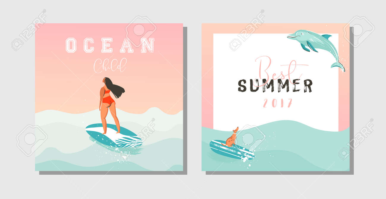 Hand Drawn Vector Abstract Exotic Summer Time Funny Save The - Funny save the date templates free