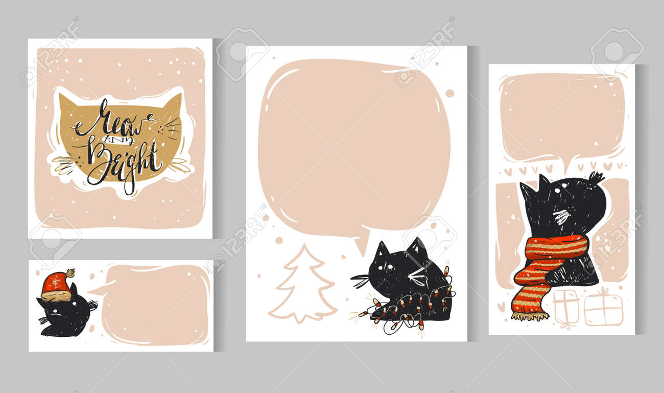 Charmant Hausgemachte Weihnachtskarten Vorlagen Bilder - Beispiel ...