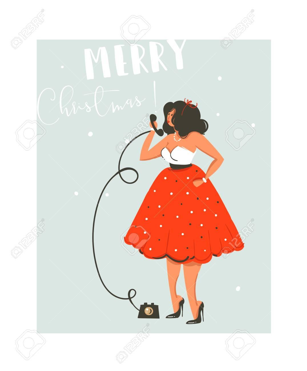 Amusement Abstraite De Vecteur Dessiné à La Main Joyeux Noël Temps