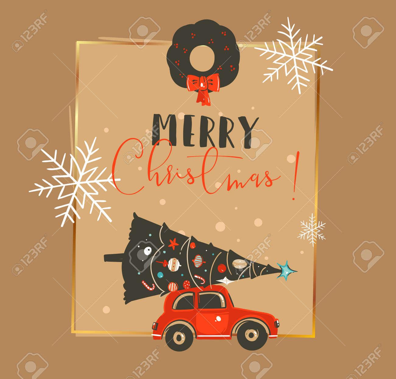 Mao Desenhada Abstract Vector Feliz Natal E Feliz Ano Novo Tempo