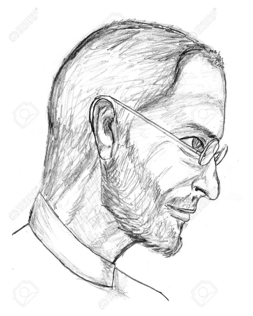 Steve jobs pencil sketch stock photo 11215602
