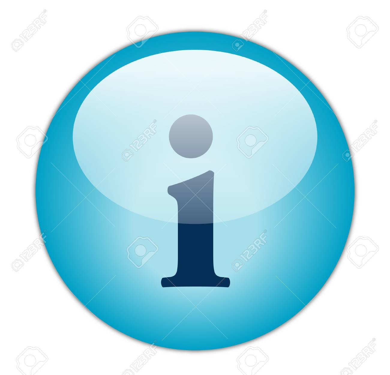 Glassy Blue Information Icon Stock Photo - 13614178