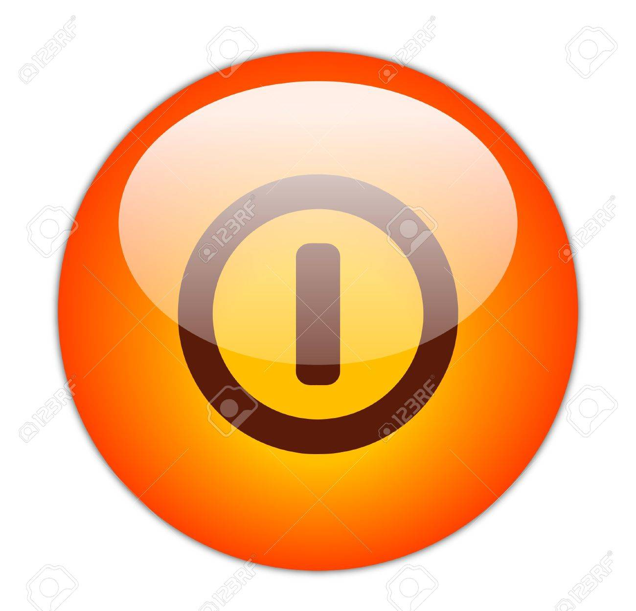 Glassy Red Switch Off Icon Button Stock Photo - 15271243