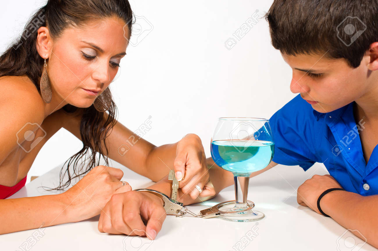 Teenager getting unchained from his addiction to alcohol Stock Photo - 10225868