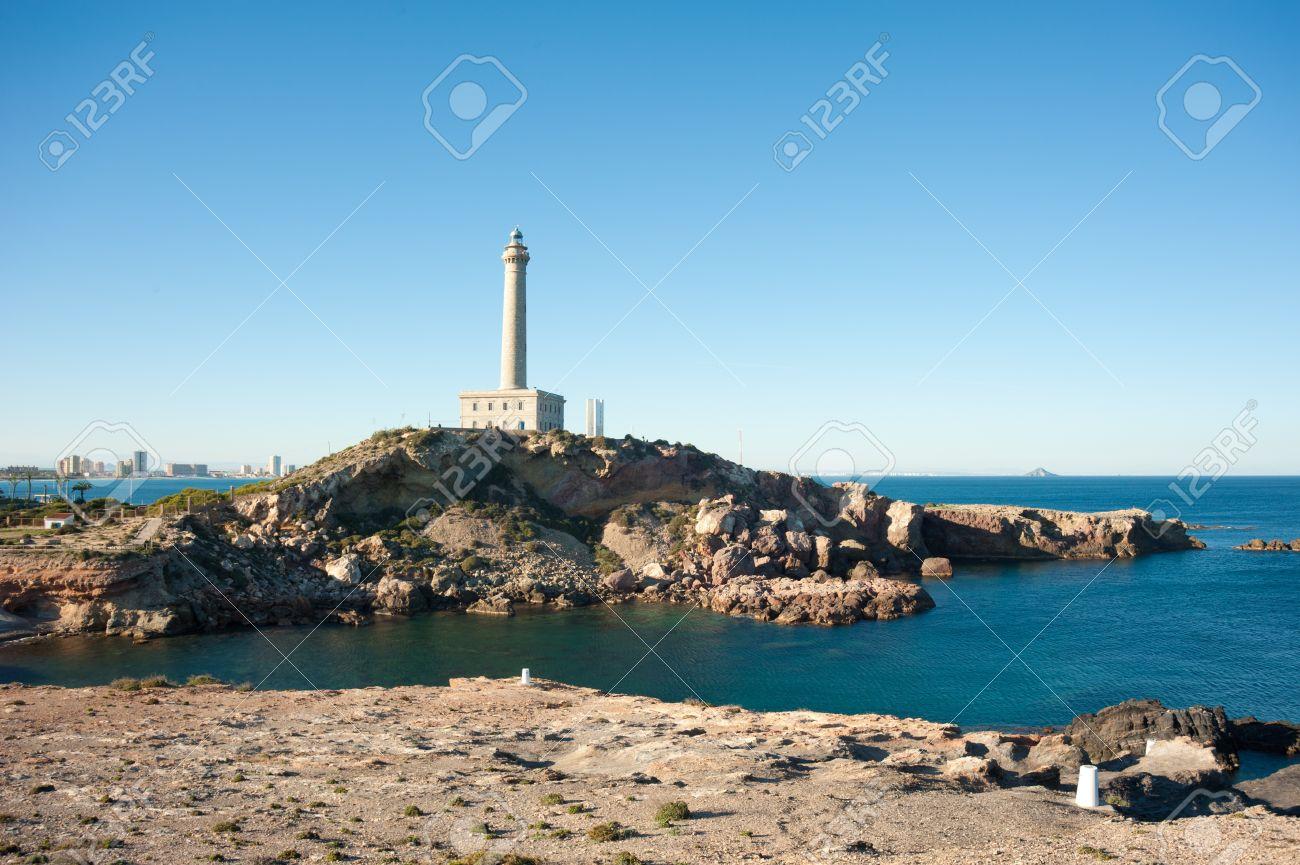 Cabo de Palos lighthouse on La Manga, Murcia, Spain - 12367978